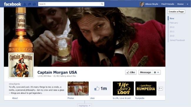 Captain Morgan Facebook Page