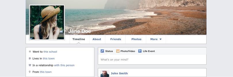 Jane Doe Facebook profile