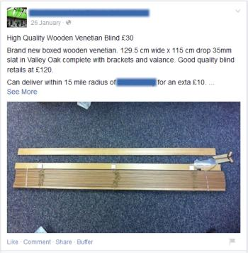 Example of a Salesy Facebook Post